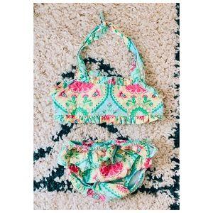 Le'Za Me | Bright Paisley Print Cotton Swimsuit